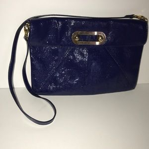 HOBO International Blue Patent Leather Purse
